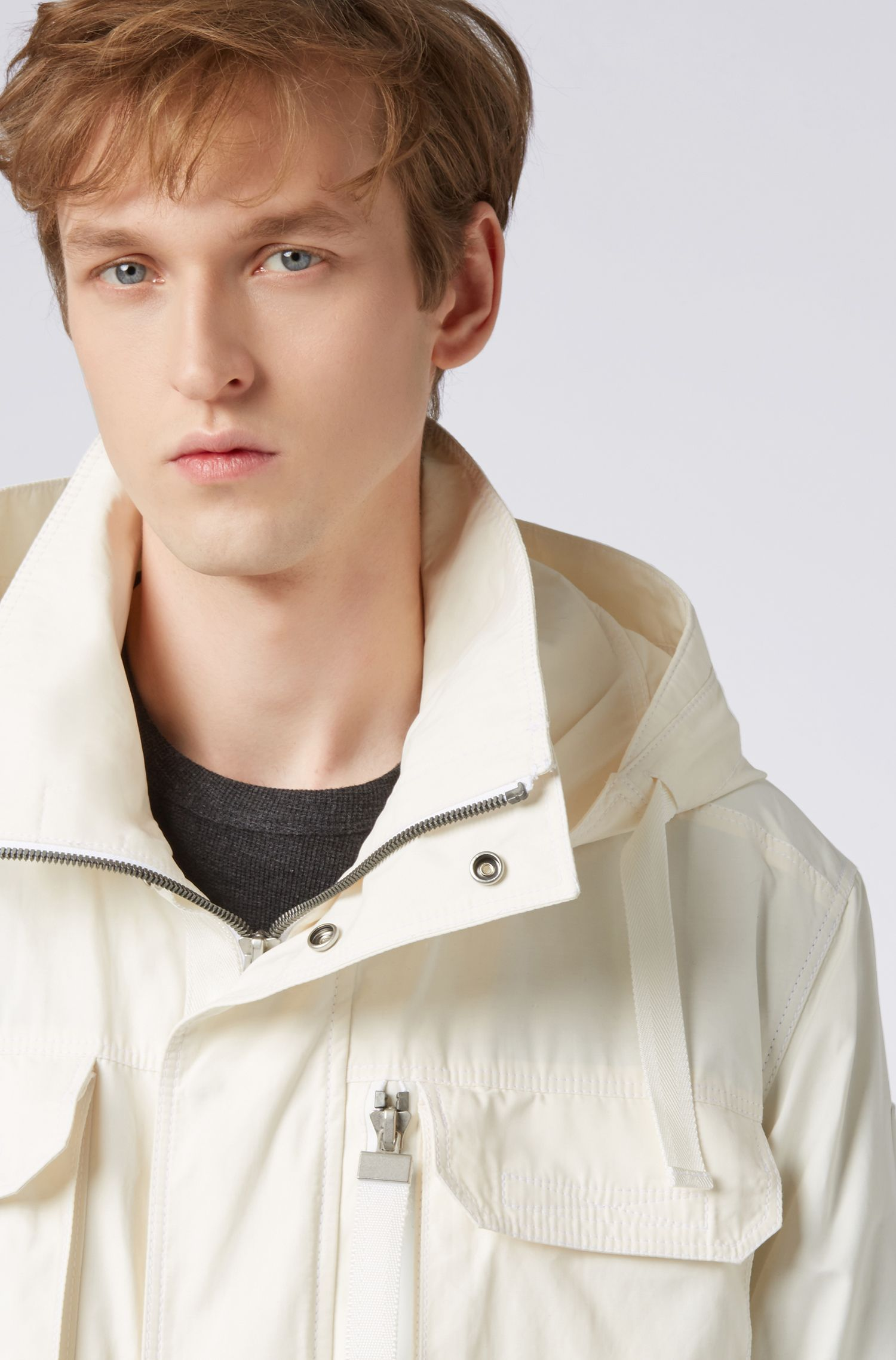 Hugo Boss - Water-repellent waxed-canvas parka with PrimaLoft® padding - 4