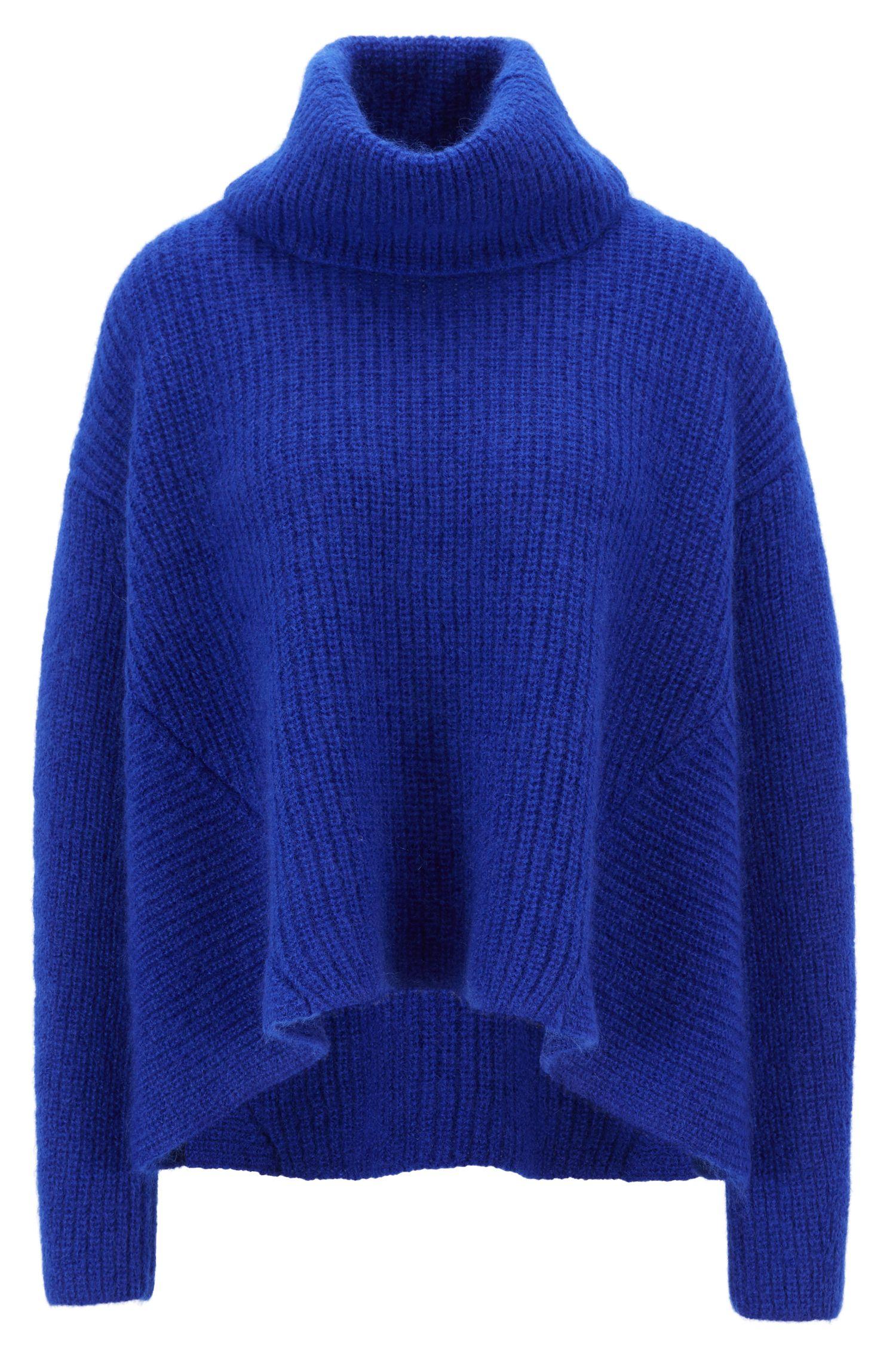 Oversized Pullover aus Woll-Mix aus der Gallery Kollektion, Blau