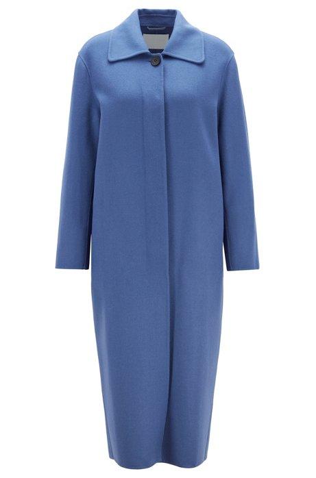 Oversized Mantel aus softem zweiseitigem Woll-Mix, Blau