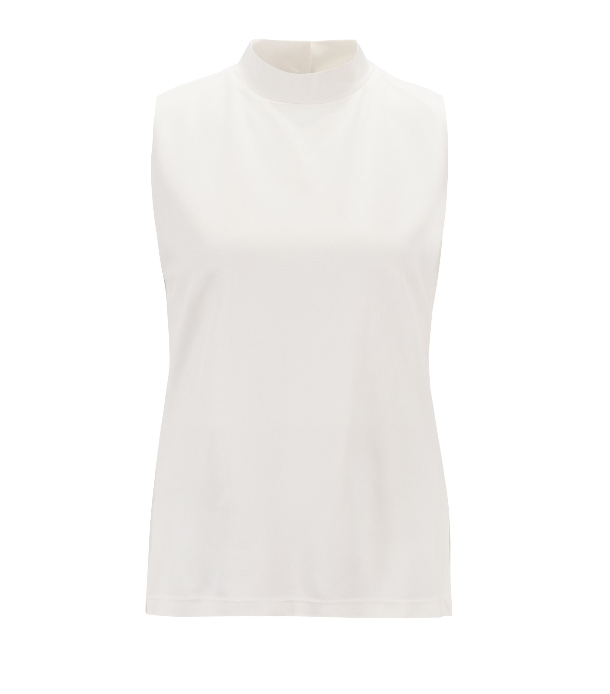 Top relaxed fit sin mangas en punto de sarga, Natural