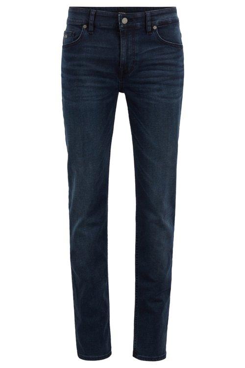 Hugo Boss - Slim-fit jeans in overdyed stretch denim - 1