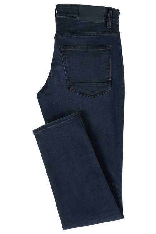 Hugo Boss - Slim-fit jeans in overdyed stretch denim - 3