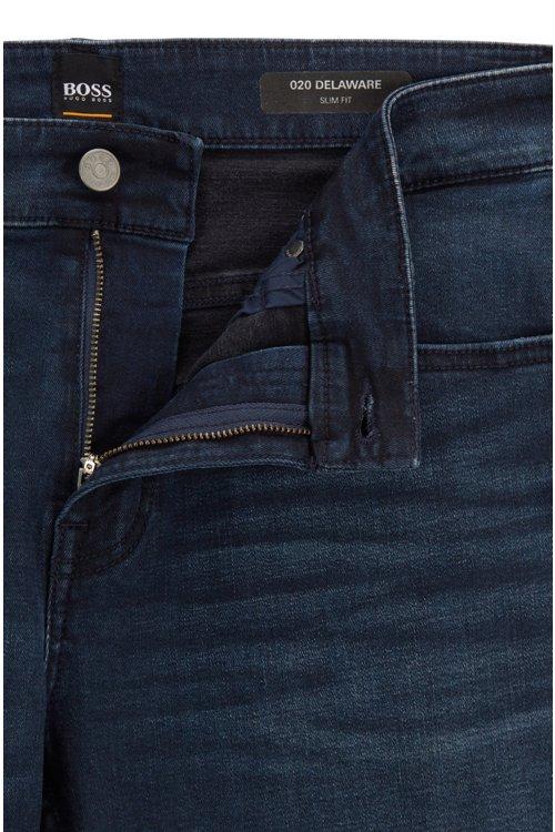 Hugo Boss - Slim-fit jeans in overdyed stretch denim - 5