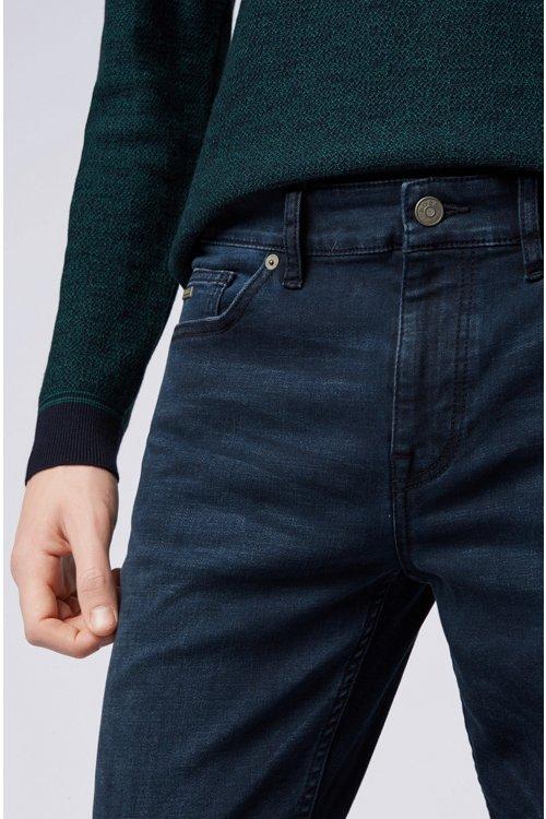 Hugo Boss - Slim-fit jeans in overdyed stretch denim - 4