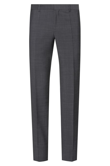 Slim-fit trousers with a two-tone pattern, Anthracite