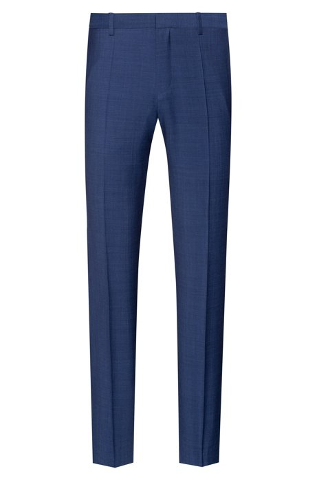 Slim-fit trousers with a two-tone pattern, Dark Blue