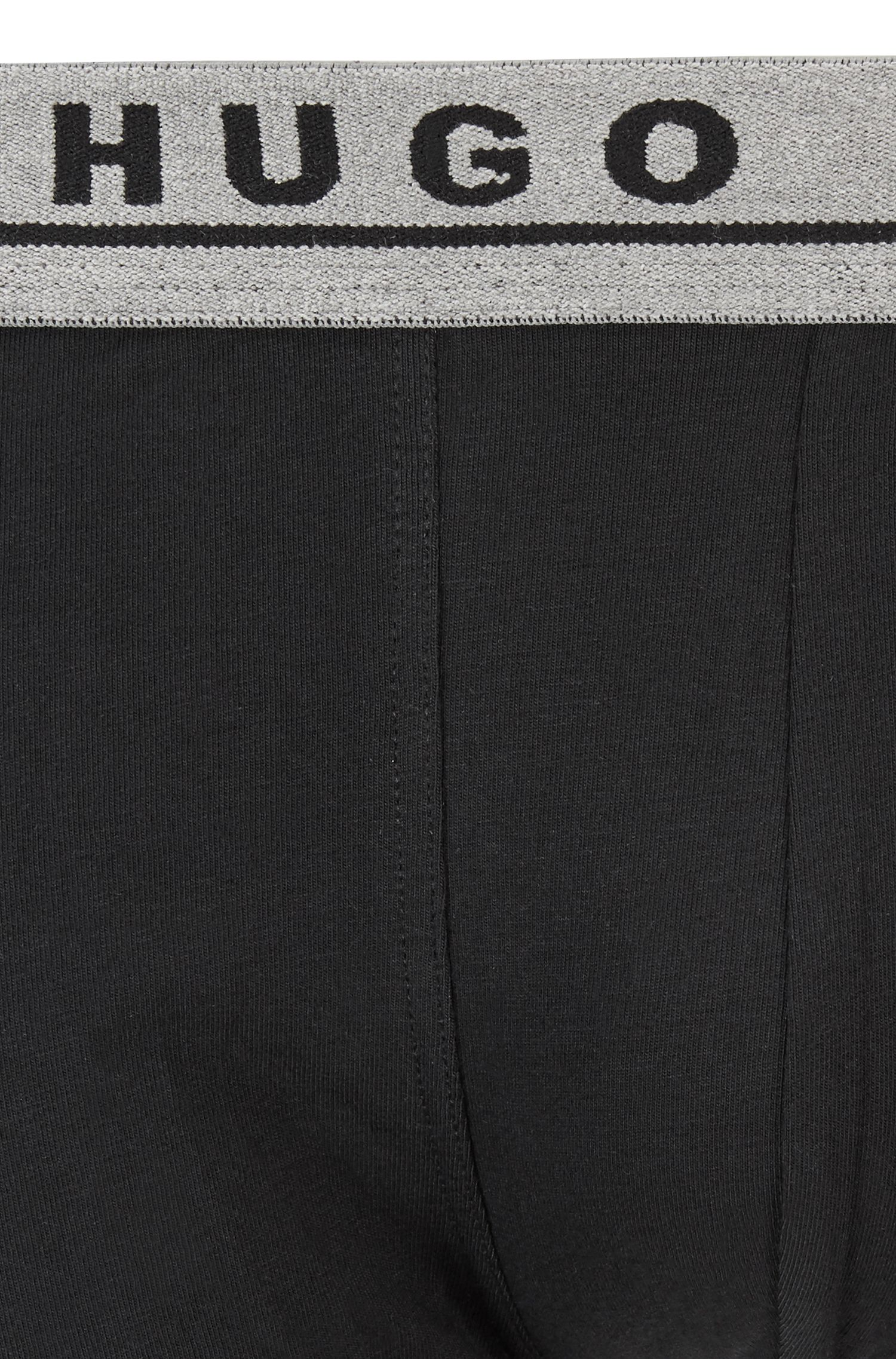 Three-pack of trunks in stretch-cotton jersey, Patterned
