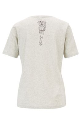 c907d3cf4 BOSS - Boxy-fit T-shirt in cotton jersey with hand-drawn artwork
