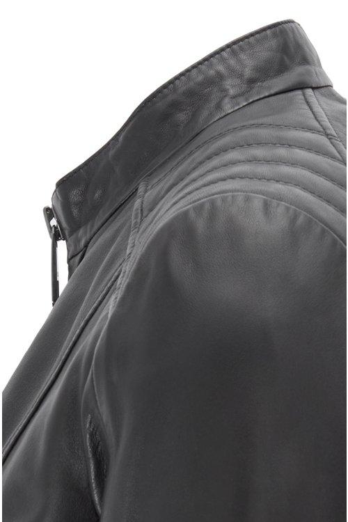 Hugo Boss - Regular-Fit Bikerjacke aus Leder - 5