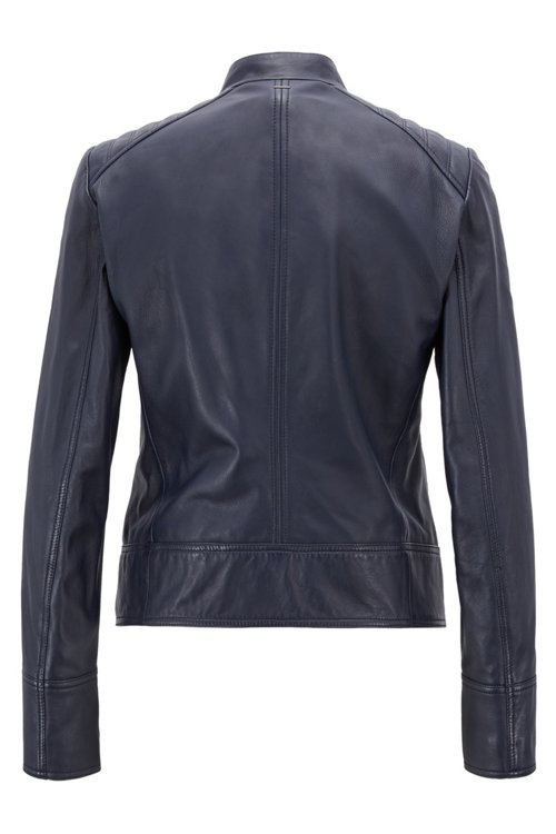 Hugo Boss - Regular-Fit Bikerjacke aus Leder - 3