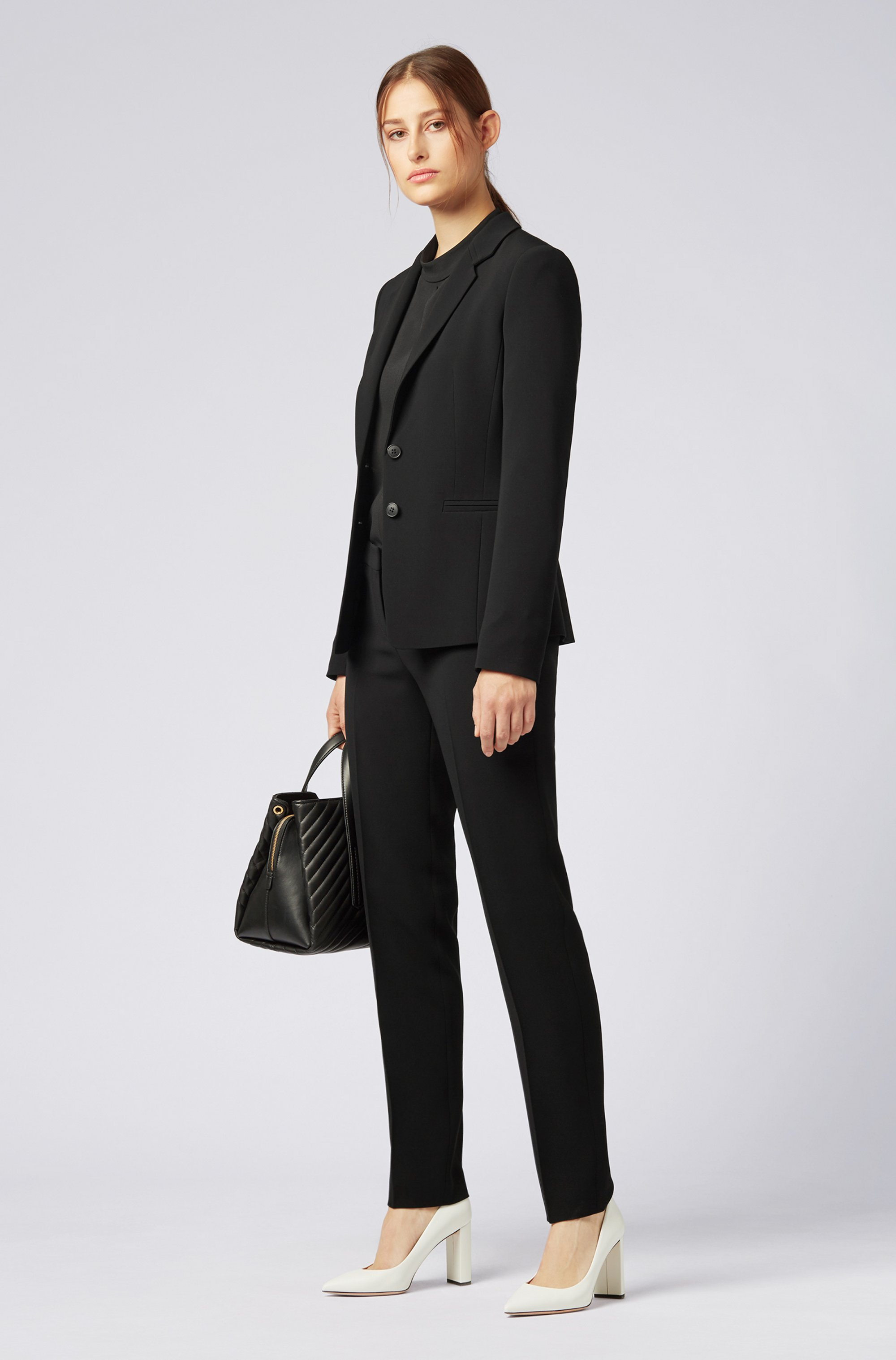 Slim-fit trousers in crease-resistant Japanese crepe