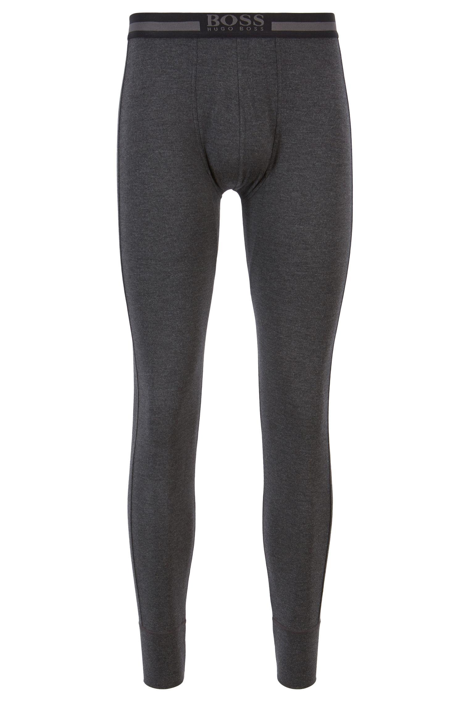 Lightweight long johns in insulating single-jersey fabric, Black
