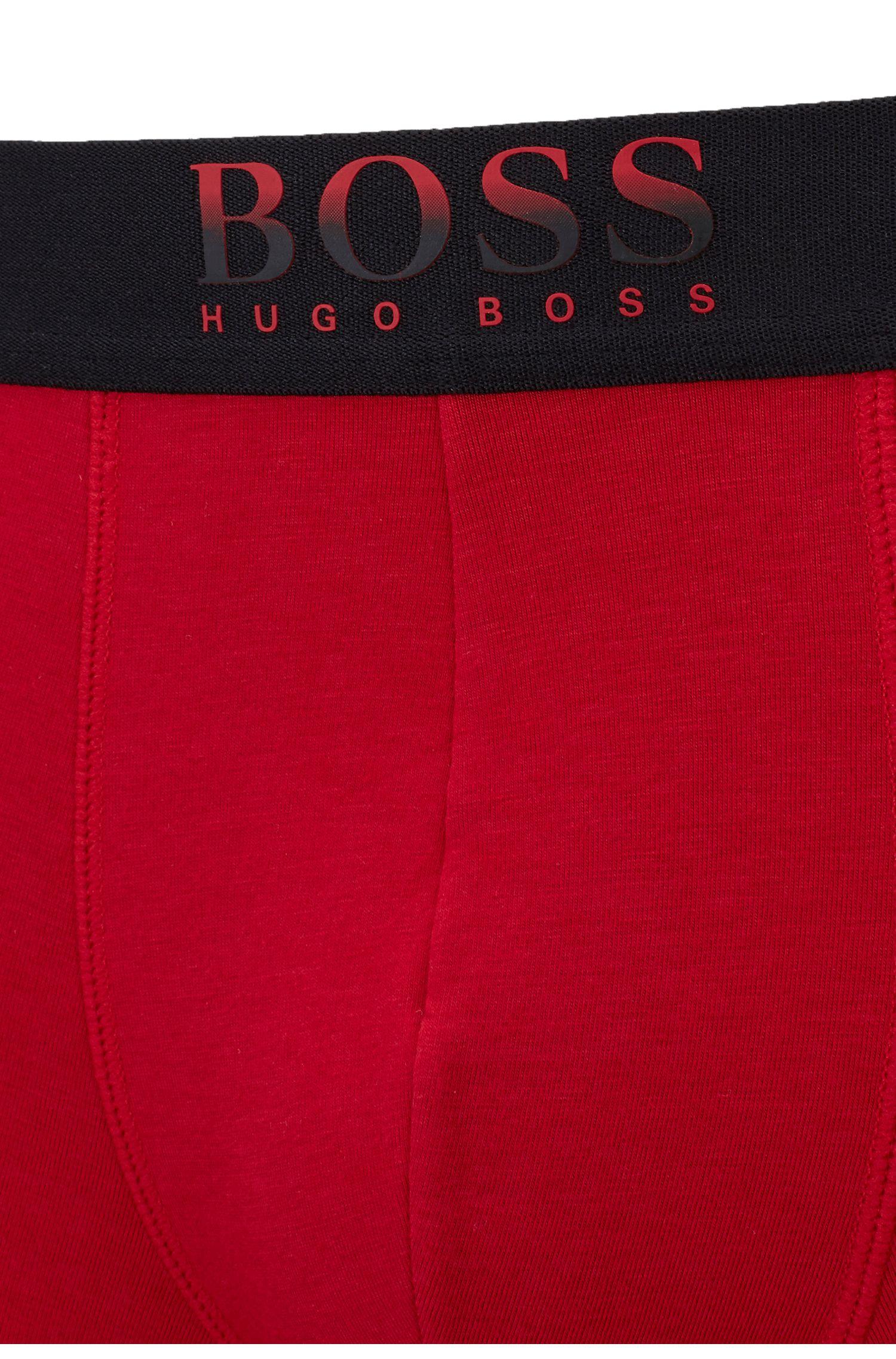 Boxerslip van een bamboemix met logo in dégradé, Rood