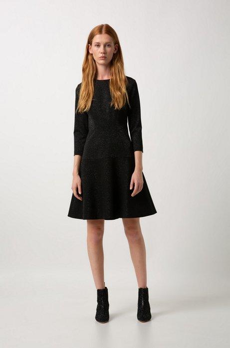 buy online cc263 fef2a HUGO - Vestito regular fit a maniche lunghe in tessuto ...
