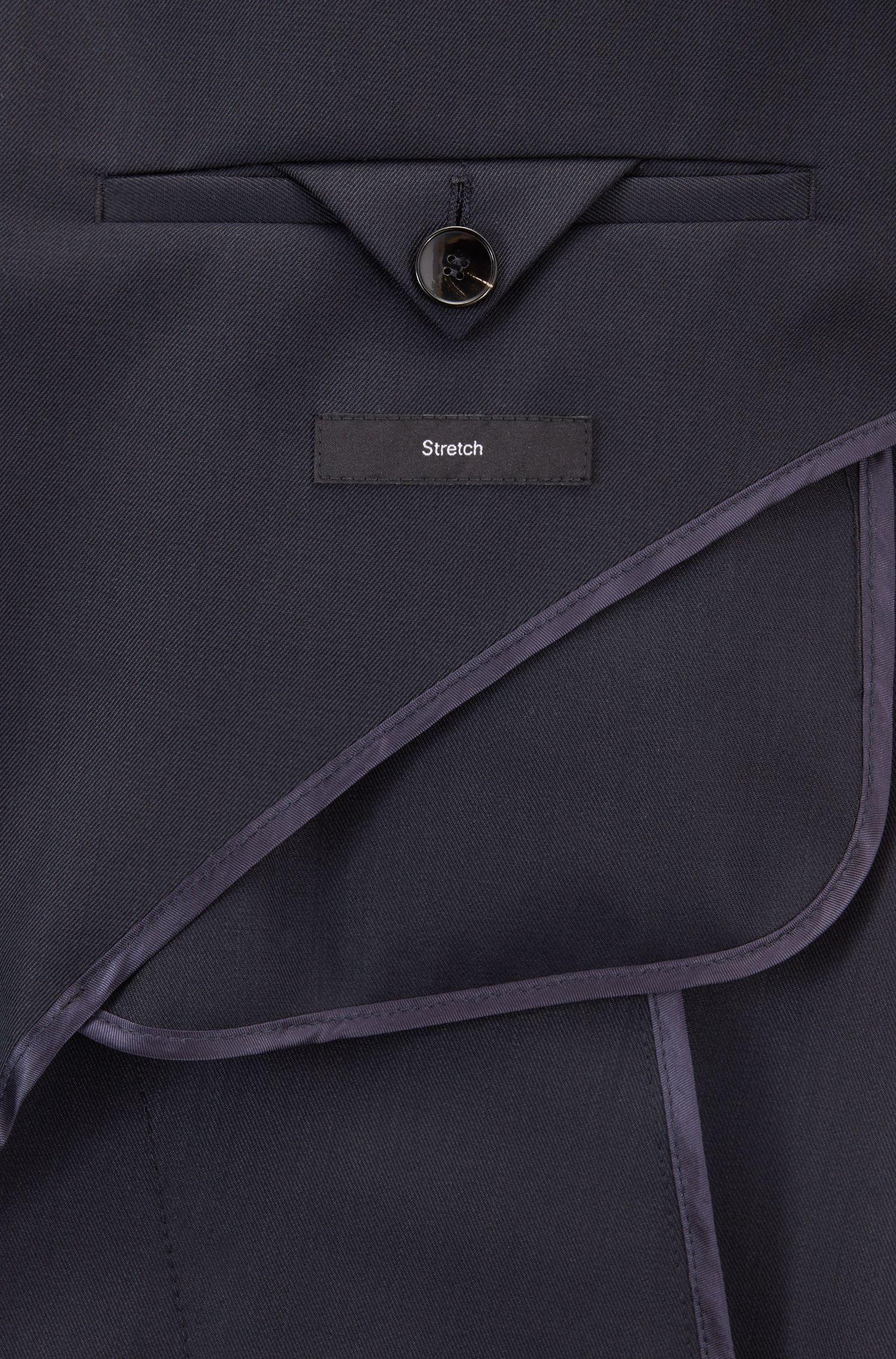 Oversized, lange mantel met verdekte knoopsluiting, Blauw