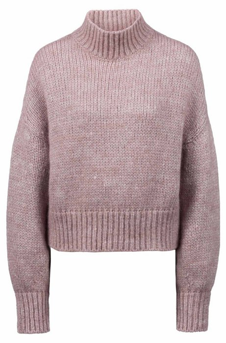 689b392c22 HUGO - Cropped sweater in knitted fabric with balloon sleeves