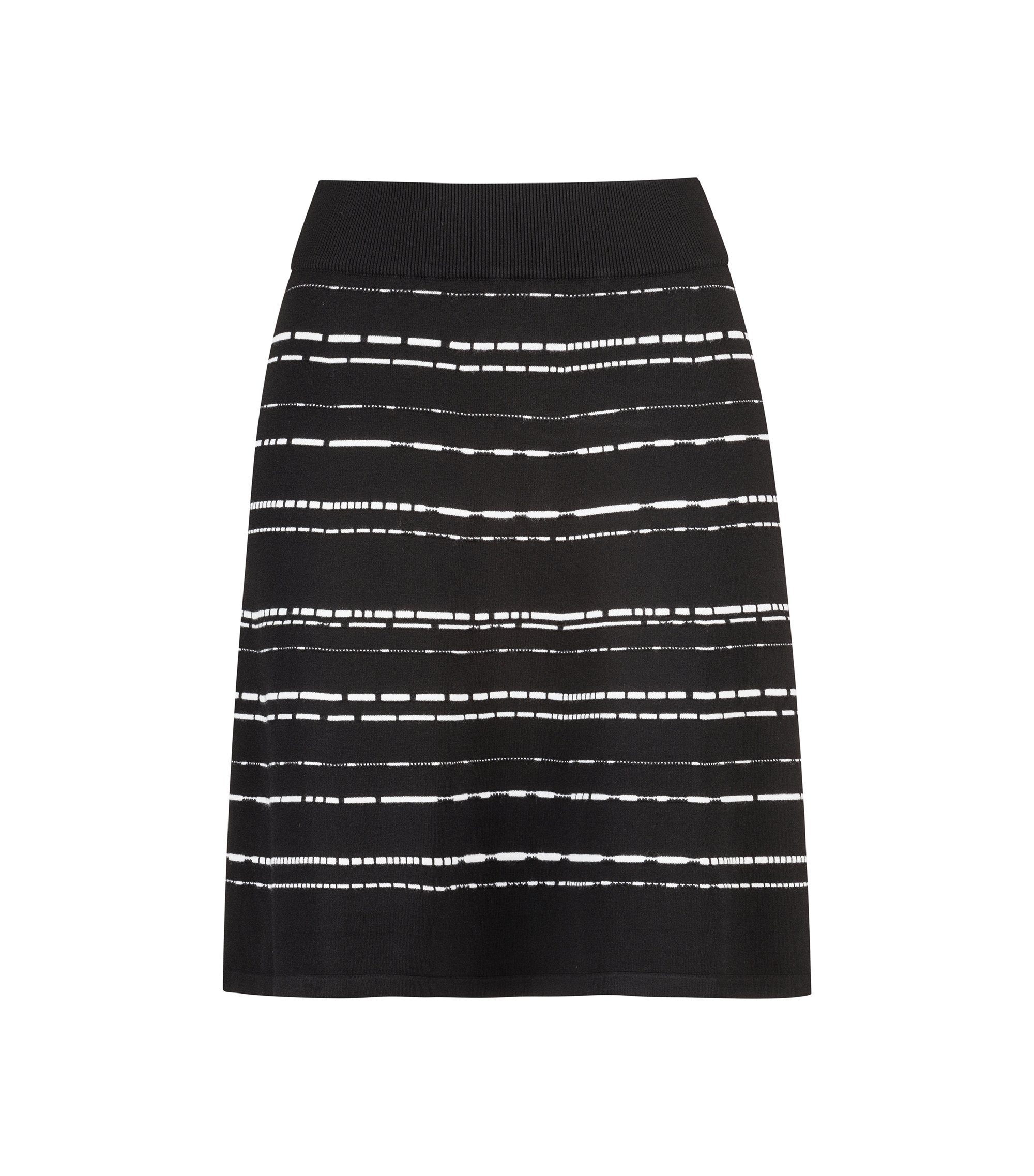A-line skirt in a super-stretch structured knit, Gemustert