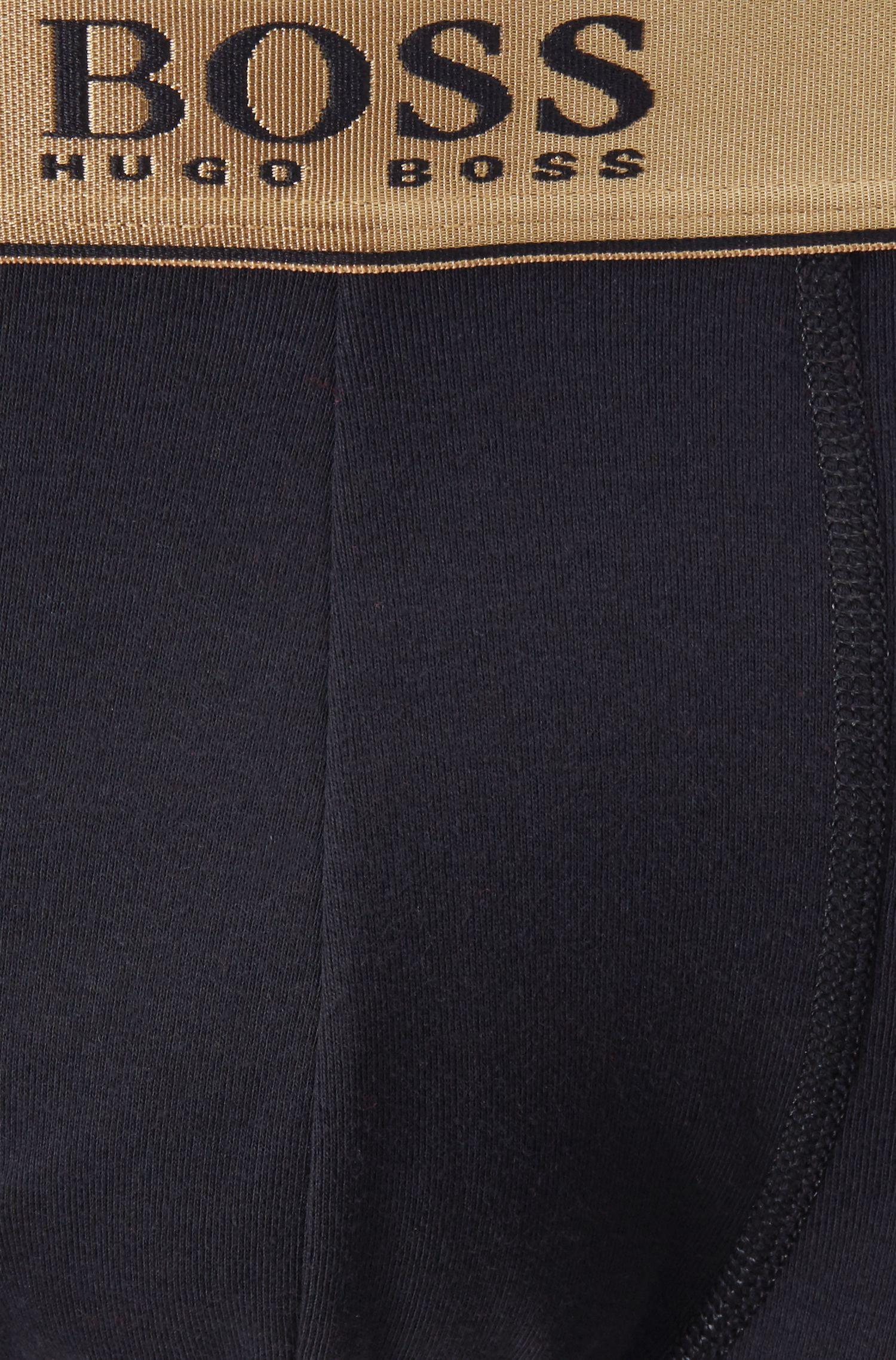 Set de regalo de calzoncillos bóxer de algodón con cintura de aspecto metalizado, Rojo