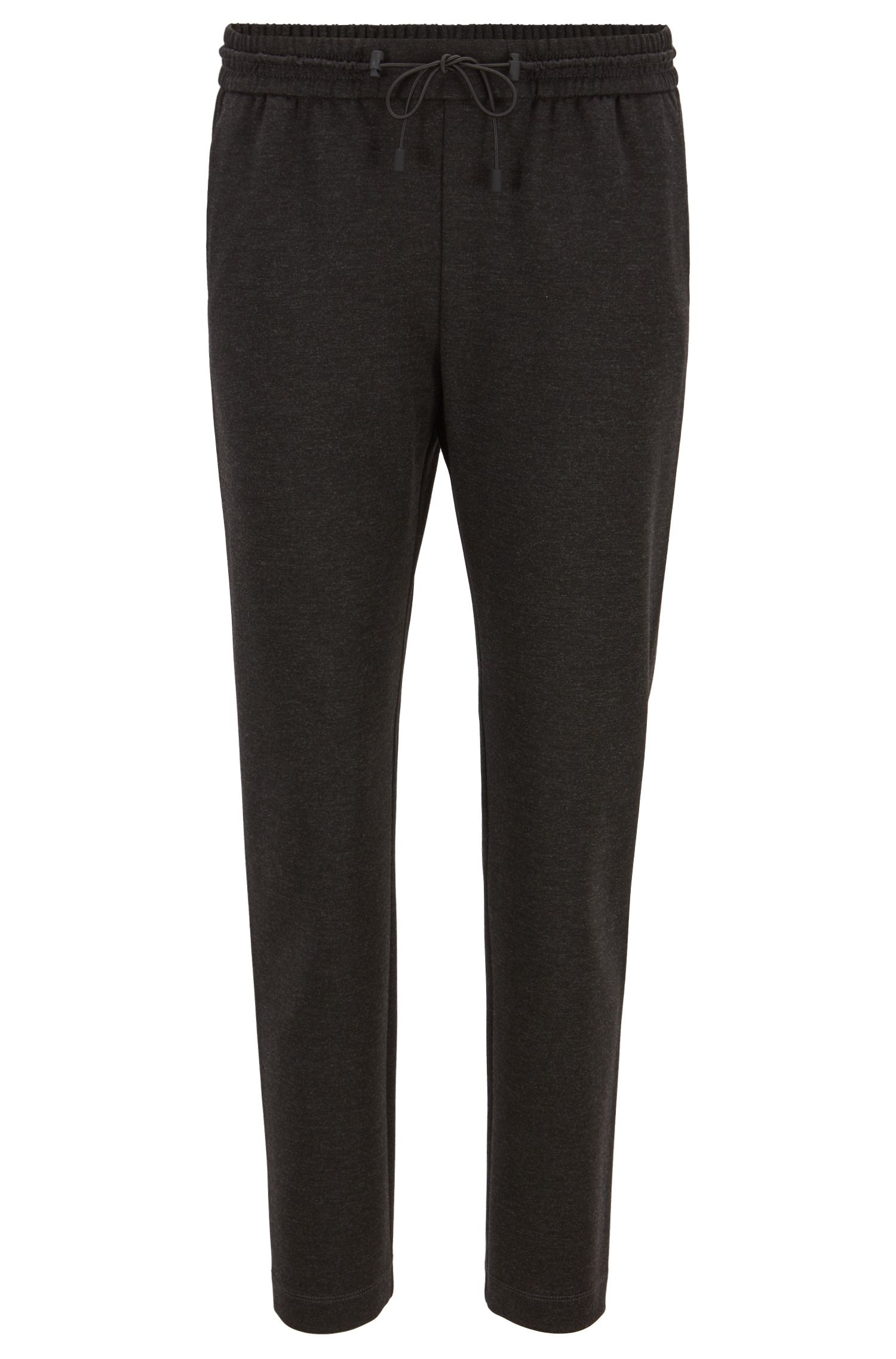 Relaxed-fit jogging trousers in stretch jersey, Dark Grey
