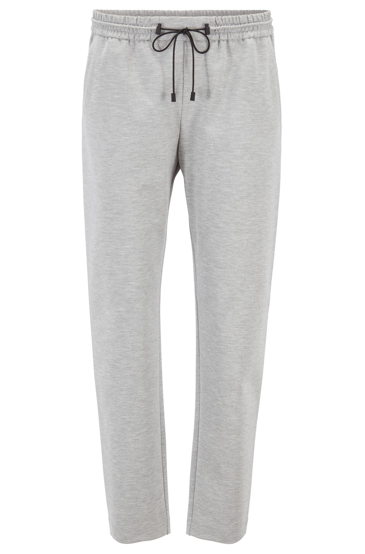 Relaxed-fit jogging trousers in stretch jersey, Silver