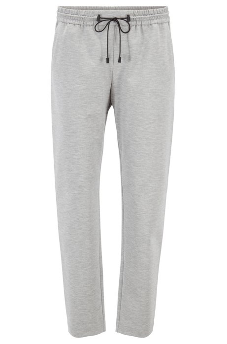 Relaxed-Fit Jogginghose aus Stretch-Jersey, Silber