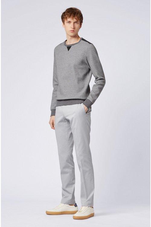 Hugo Boss - Sudadera slim fit en mezcla de algodón con estructura y apliques en contraste - 5