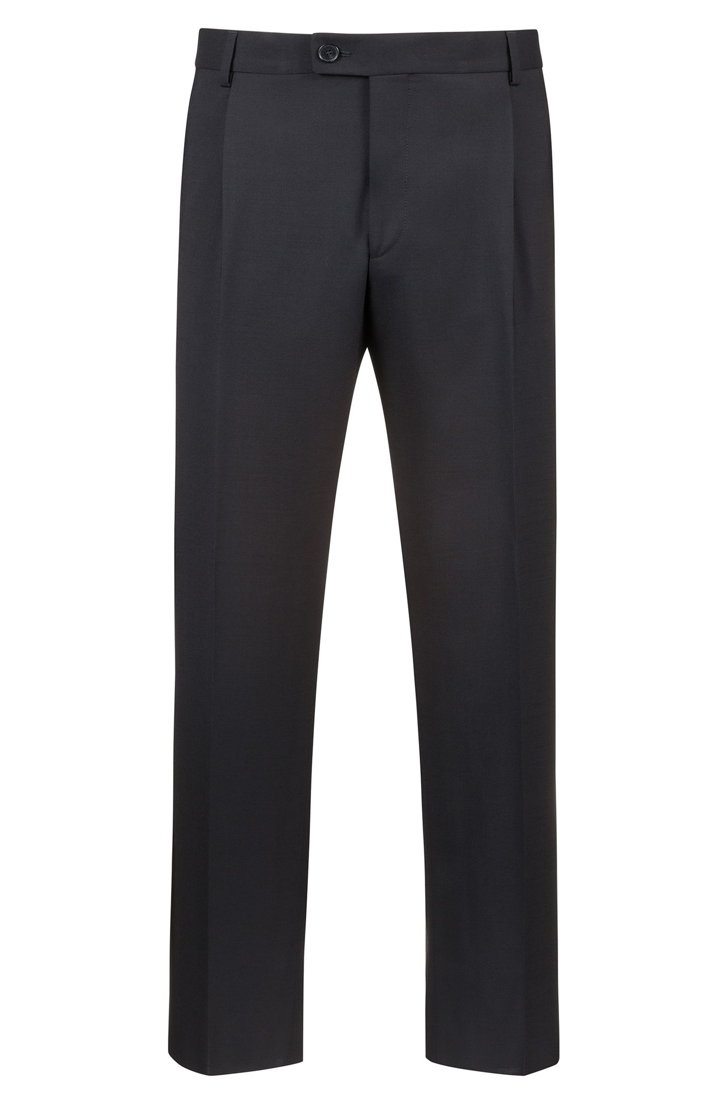 Extra-slim-fit cropped trousers with silk stripe, Black