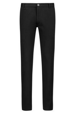 Pantalones extra slim fit en punto elástico, Negro
