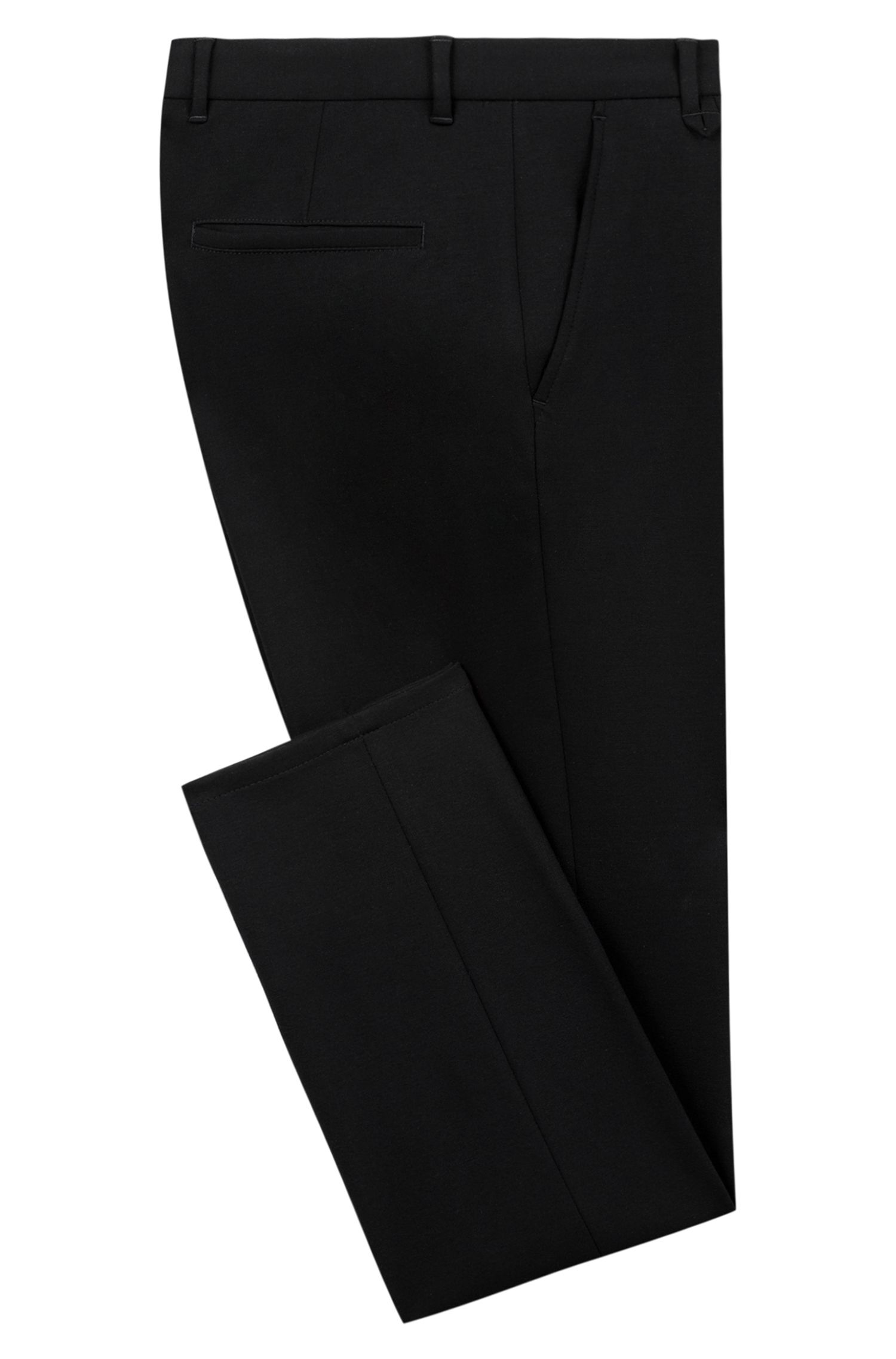 Extra Slim-Fit Hose aus Stretch-Jersey, Schwarz