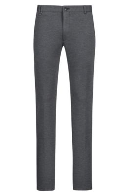 Extra-slim-fit stretch-jersey trousers, Grey