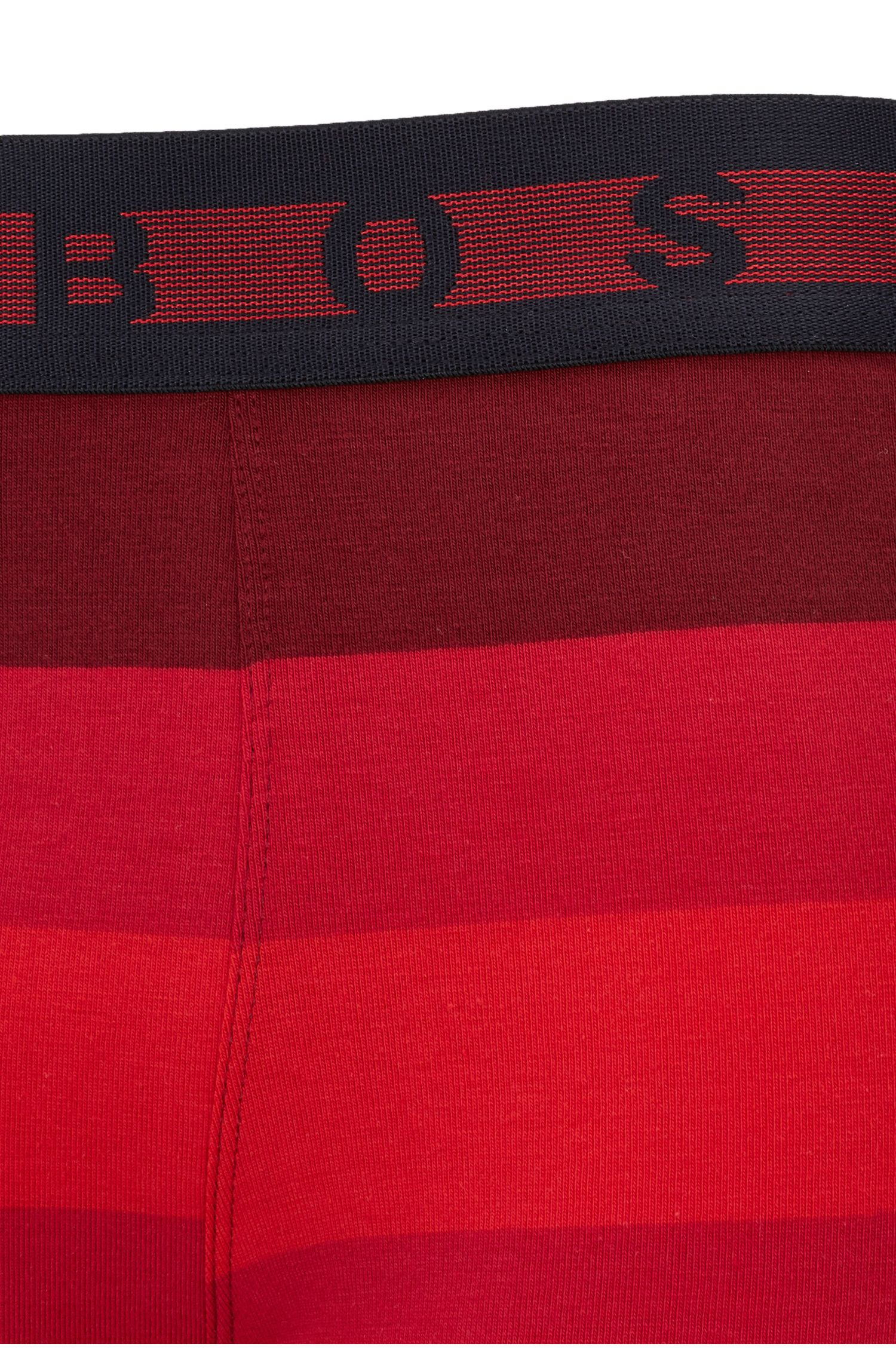 Boxershort van stretchkatoenjersey met blokstrepen, Rood