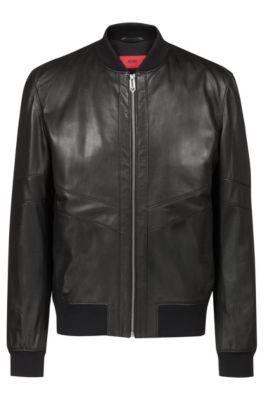 1f57a4b60f6 HUGO BOSS | Leather Jackets for Men | Premium Lambskin Jackets