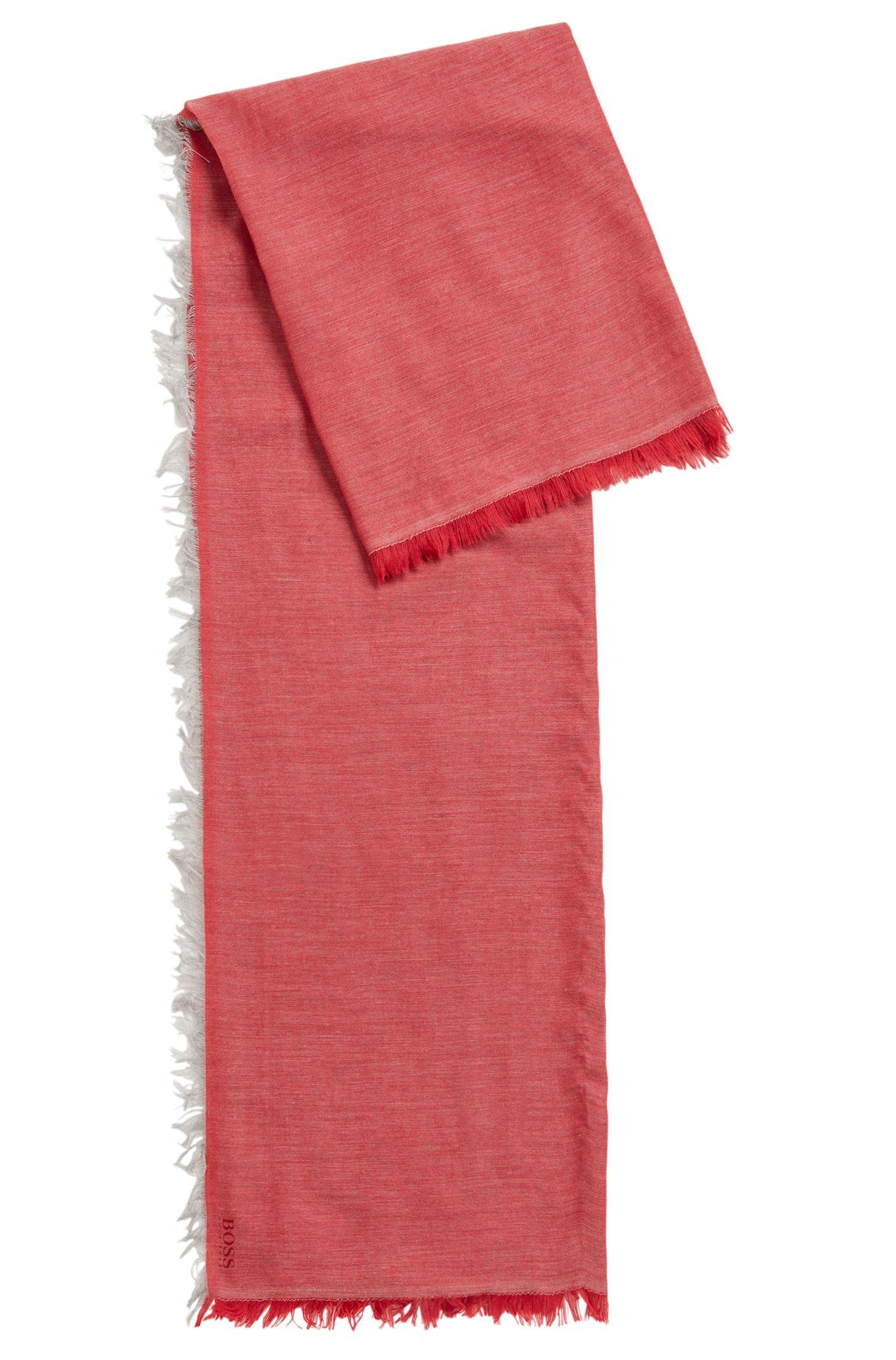 Leichter Schal in melierter Optik mit Logo-Print, Rot