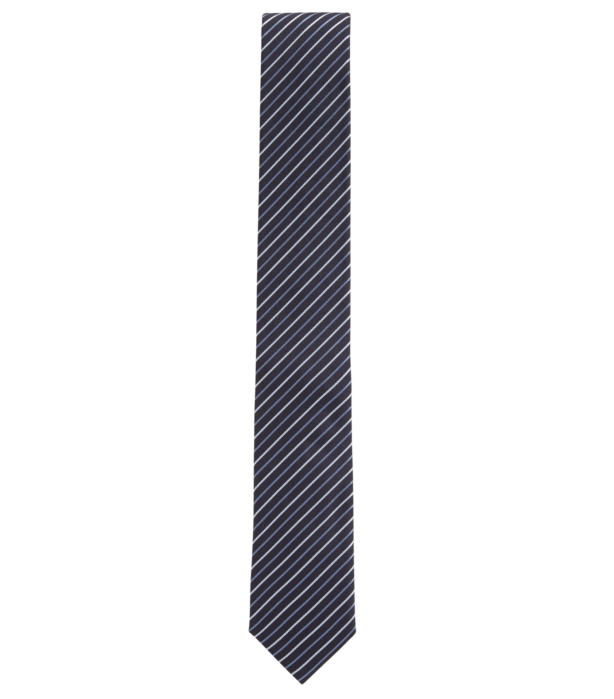 Diagonal striped tie in silk jacquard, Patterned