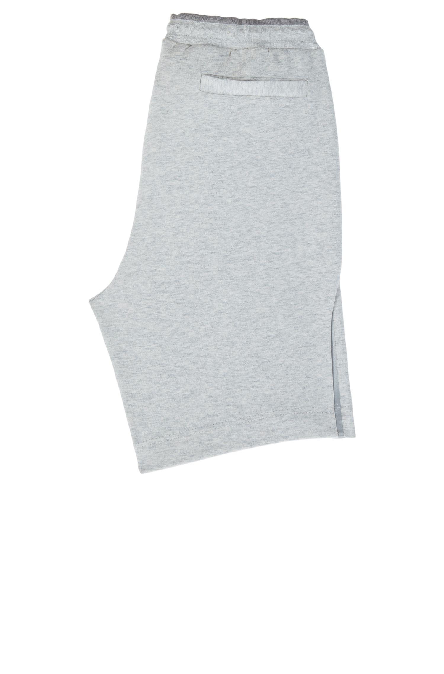 Shorts de mezcla de algodón con elementos reflectantes, Gris claro