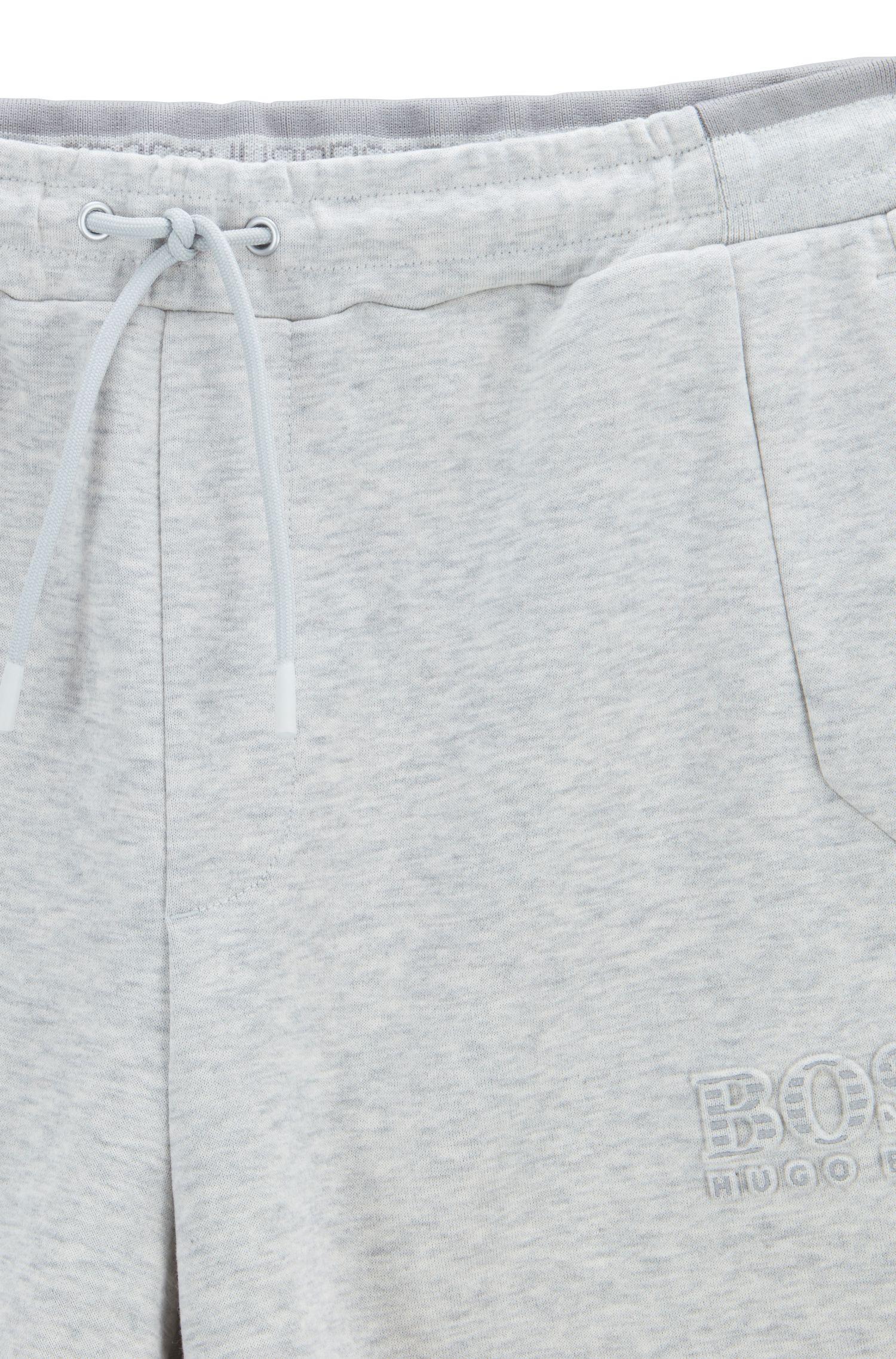 Regular-Fit Shorts aus Baumwoll-Mix mit reflektierenden Elementen, Hellgrau