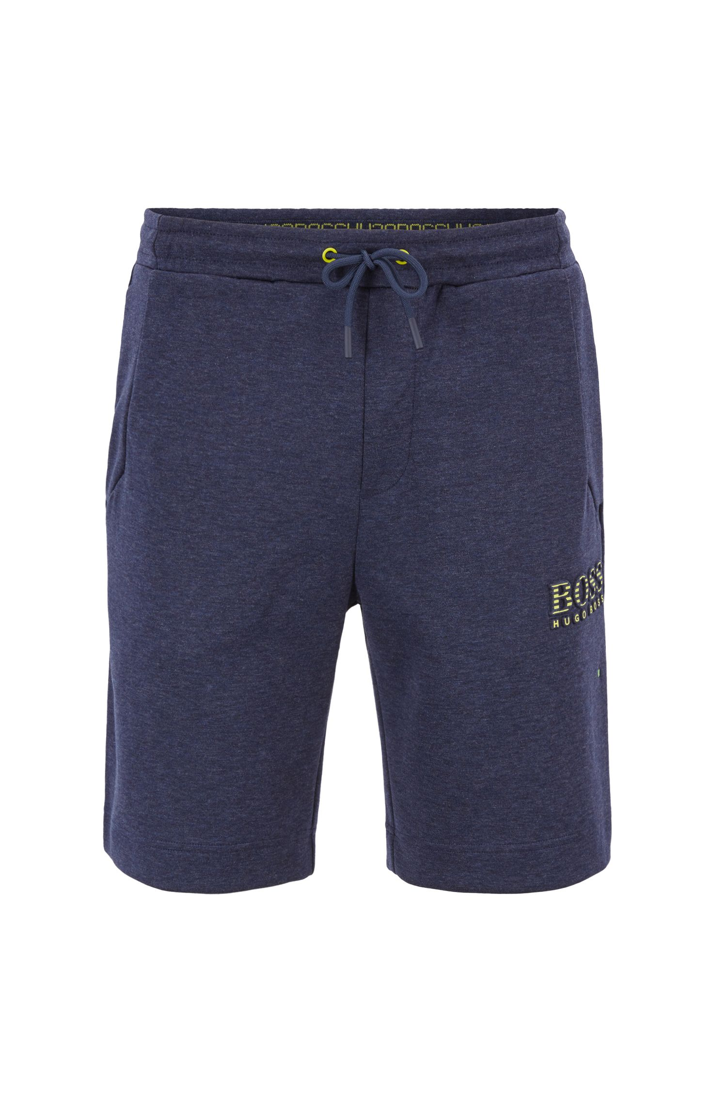 Cotton-blend shorts with reflective elements, Dark Blue