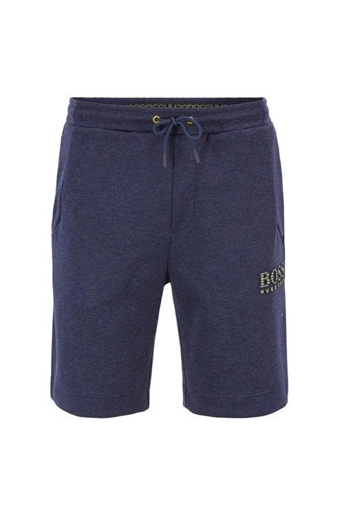 Hugo Boss - Shorts de mezcla de algodón con elementos reflectantes - 1