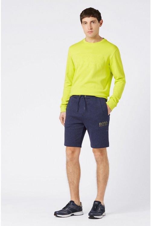 Hugo Boss - Shorts de mezcla de algodón con elementos reflectantes - 2