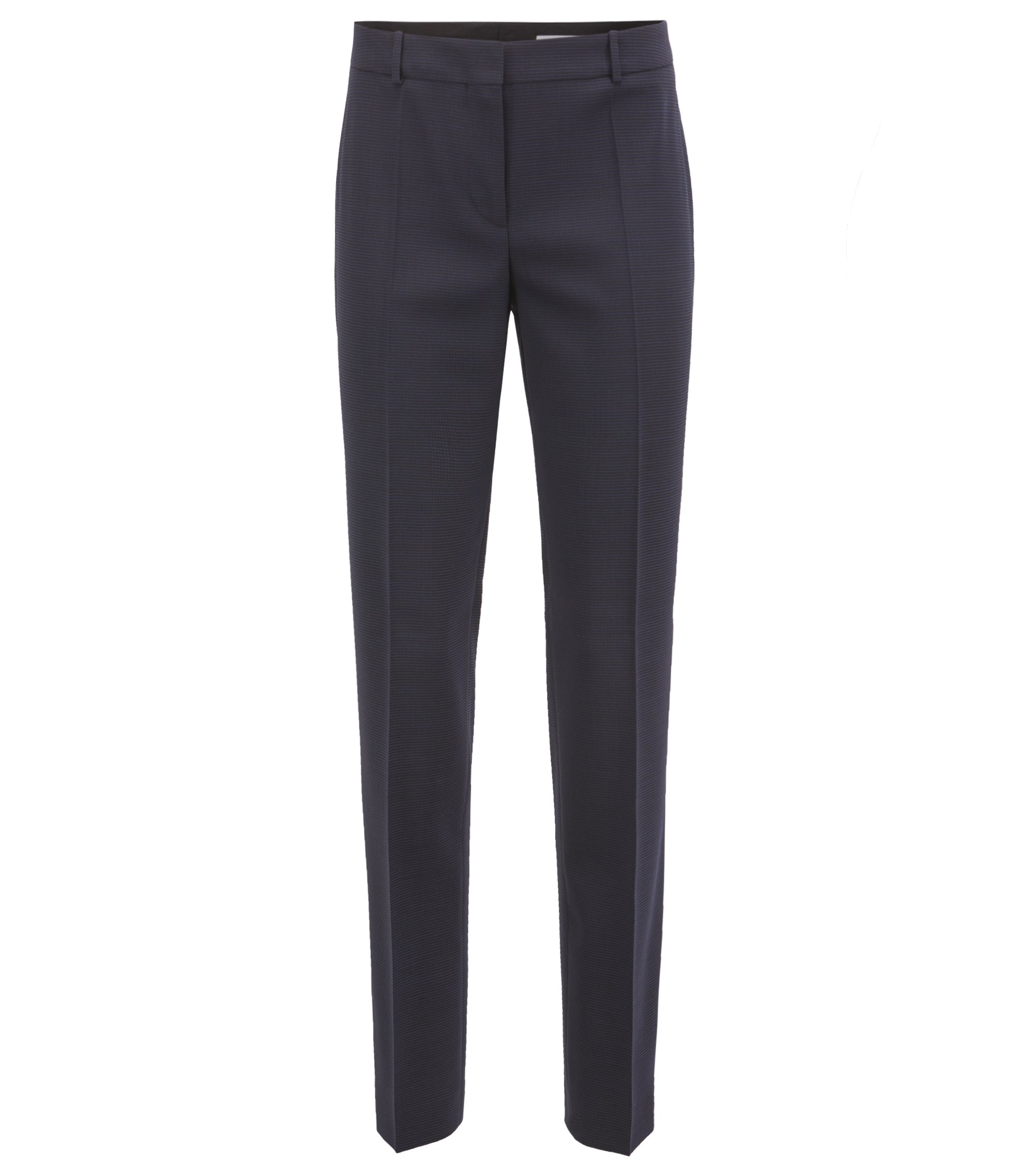 Pantalon Slim Fit en laine vierge stretch italienne, Fantaisie