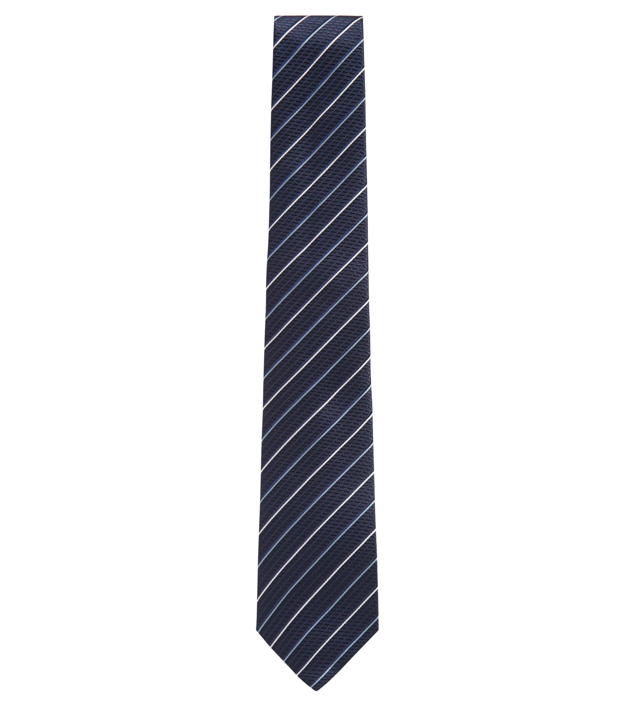 In Italië vervaardigde stropdas van zijde met diagonale strepen, Bedrukt