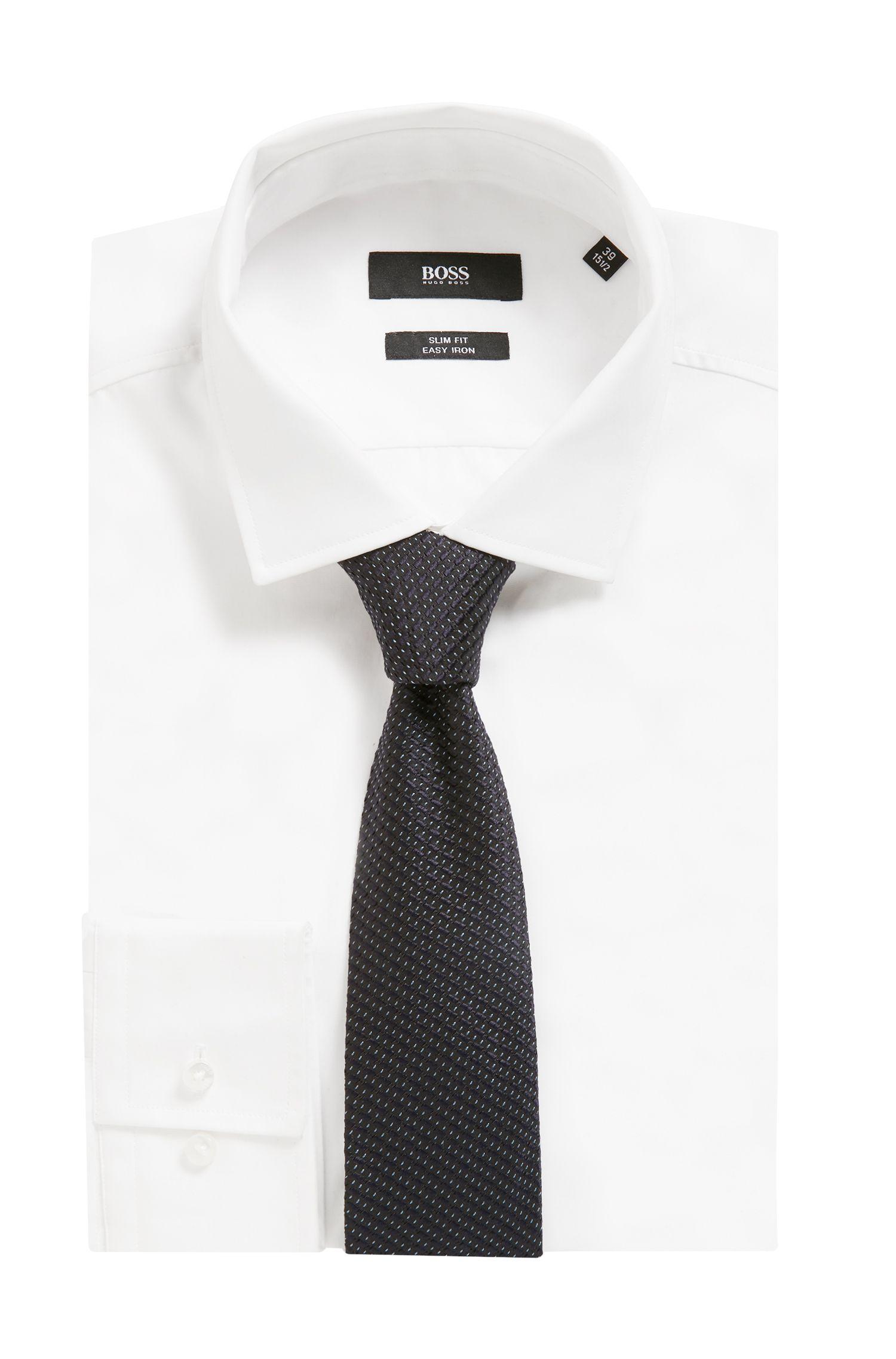 Cravate en soie à micro-motif confectionnée à la main en Italie, Fantaisie