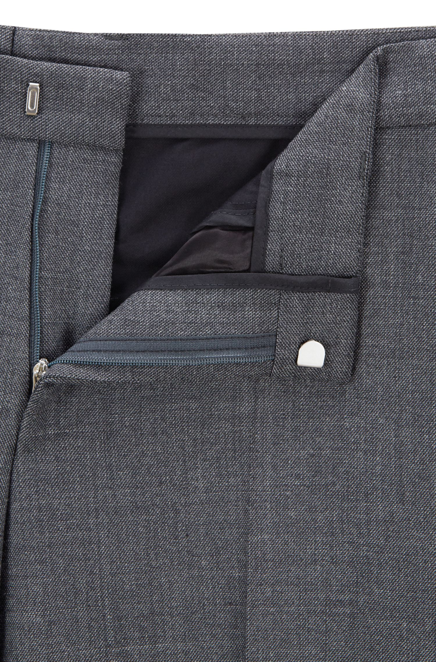 Slim-fit suit with double-breasted jacket, Grey