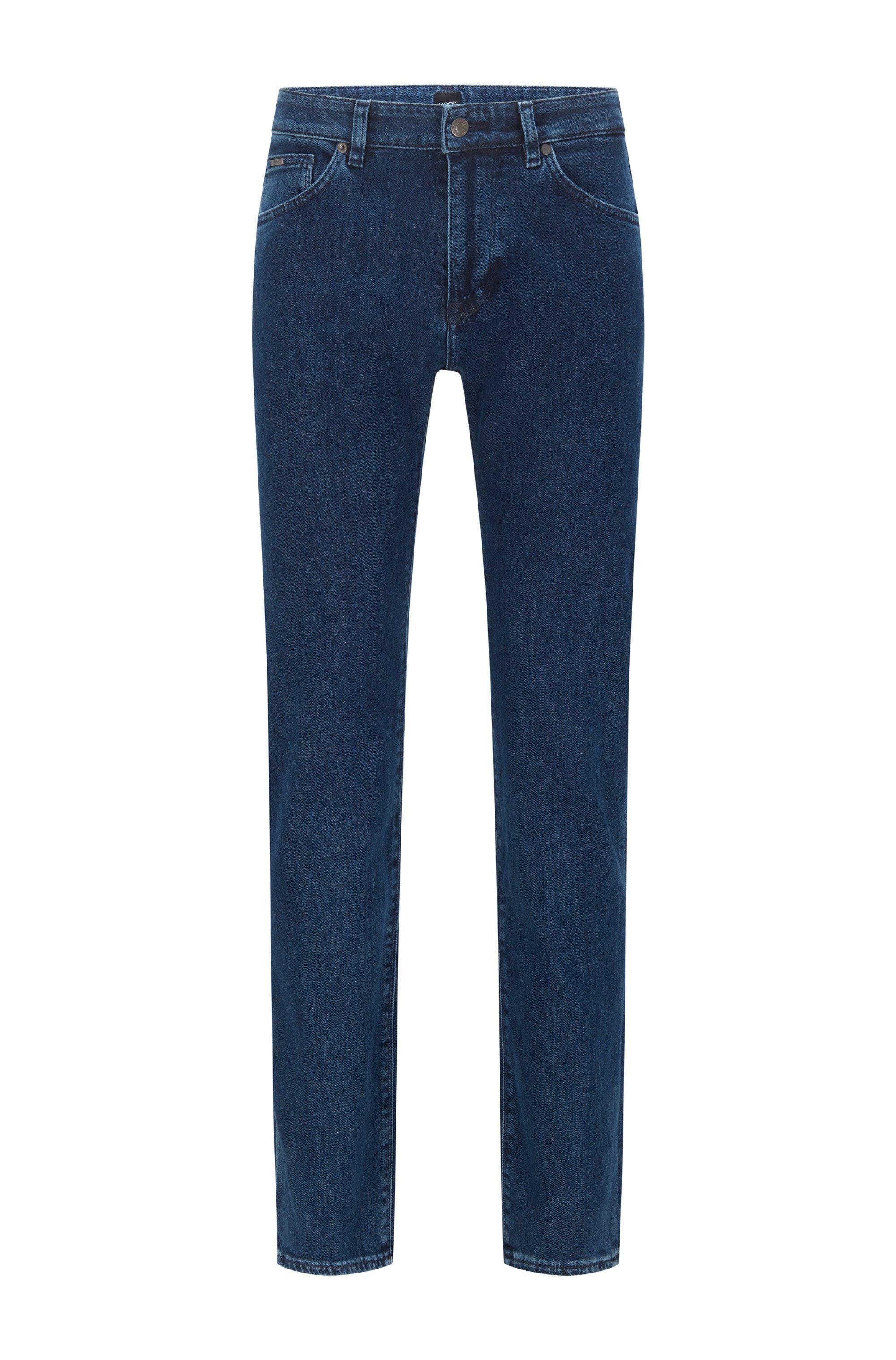 Regular-Fit Jeans aus italienischem Stretch-Denim, Blau