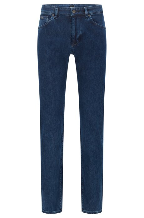 Regular-fit jeans in BCI-cotton stretch denim, Blue
