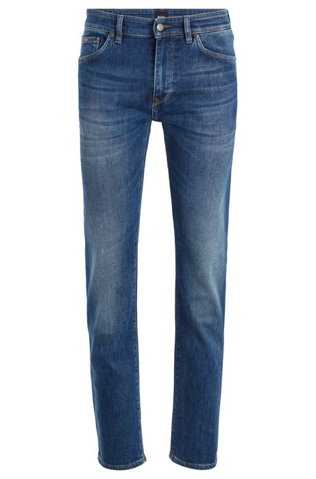 Regular-Fit Jeans aus Stretch-Denim, Dunkelblau
