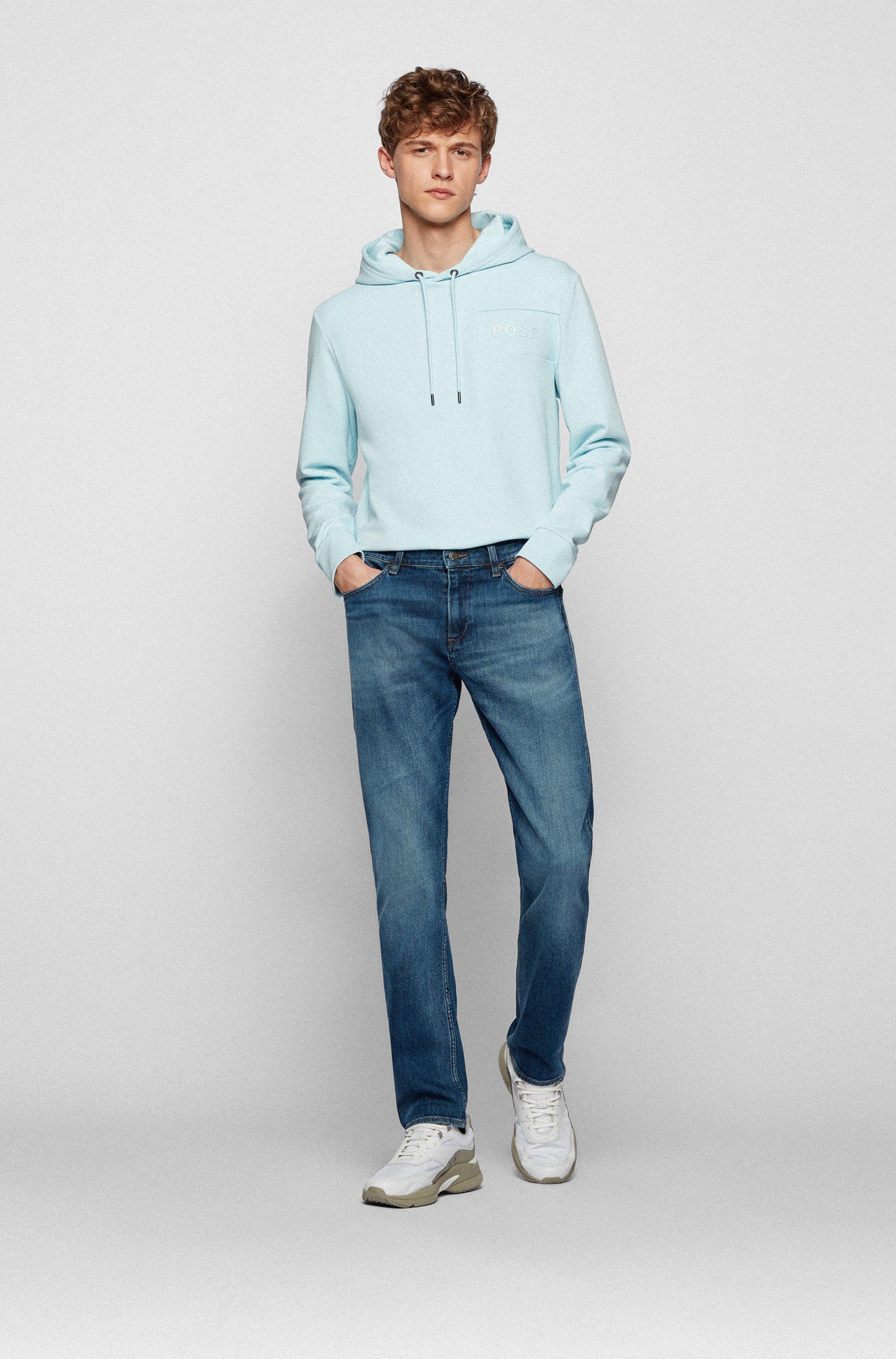 Slim-fit jeans in mid-washed Italian stretch denim