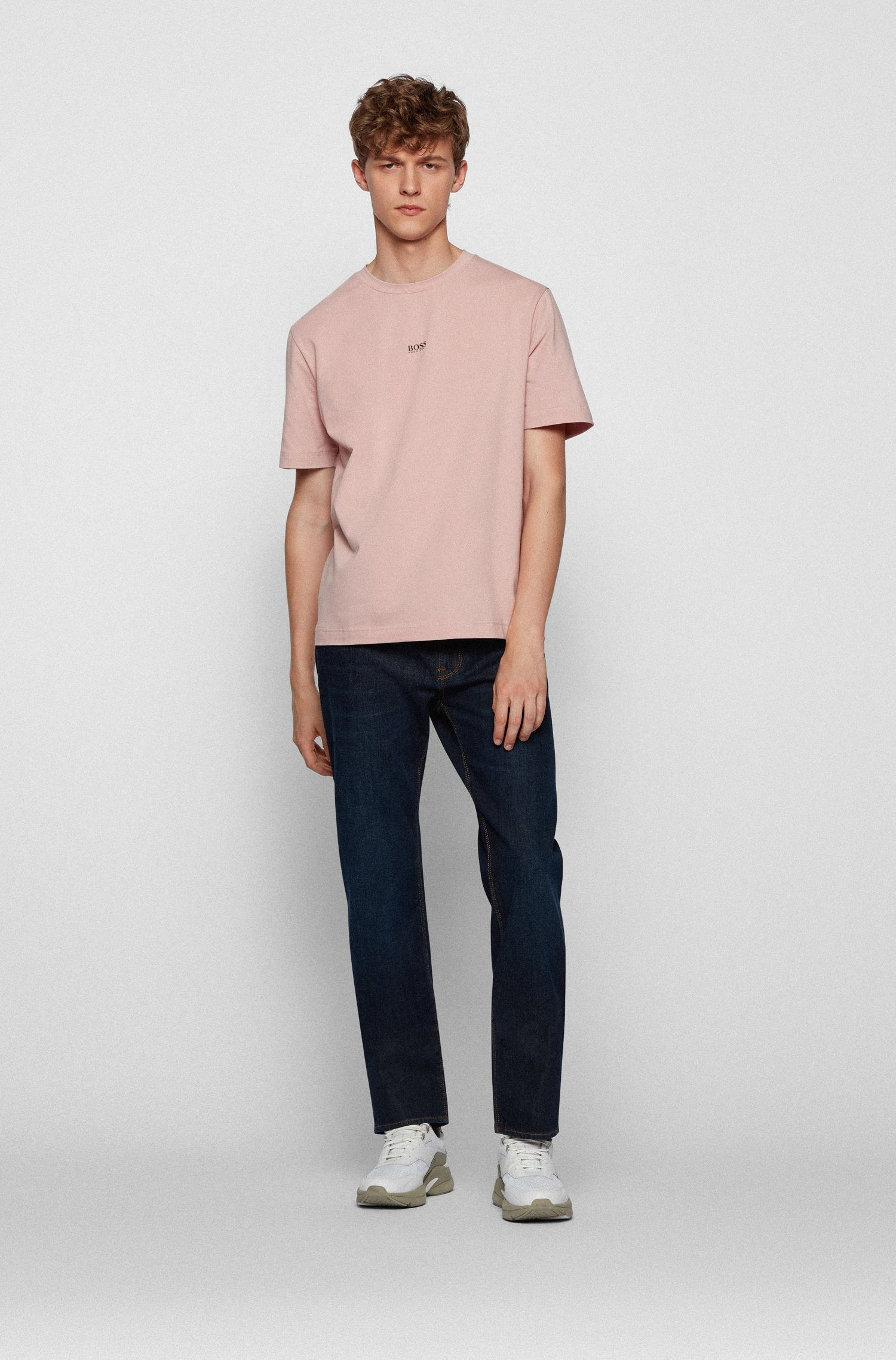 Regular-fit jeans van Italiaans stretchdenim, Blauw