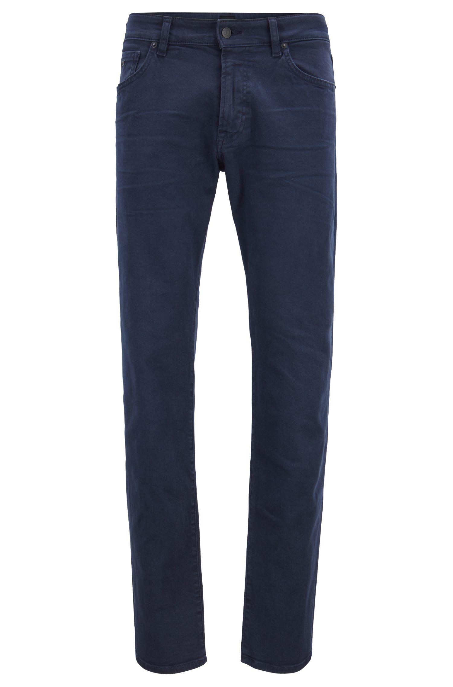 Regular-fit jeans in left-hand-twill stretch denim, Dark Blue