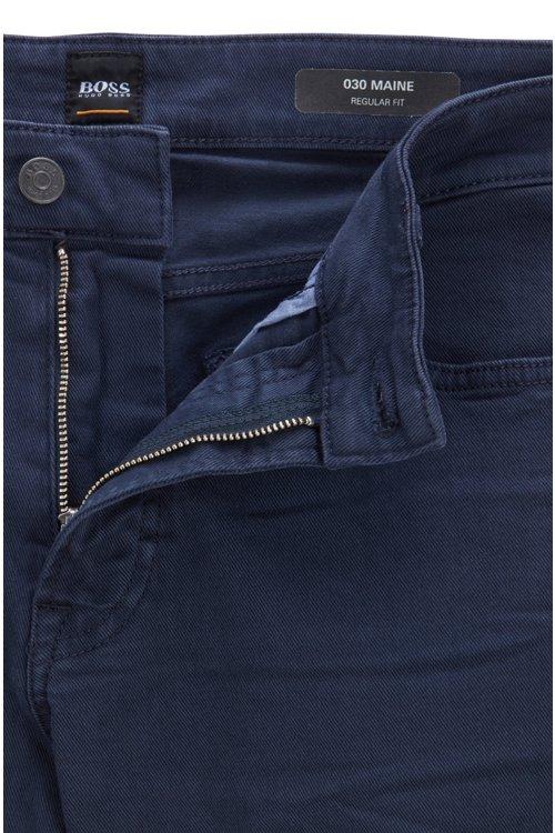 Hugo Boss - Regular-fit jeans in left-hand-twill stretch denim - 5